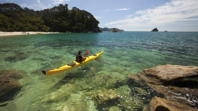 Kayaker, Abel Tasman National Park, Nelson, New Zealand