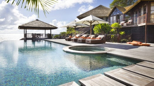 Swimming Pool, Fregate Private Island, the Seychelles