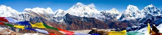 Mount Everest, Lhotse and Nuptse from Renjo La