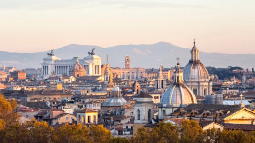 Panoramic Rome skyline, Italy