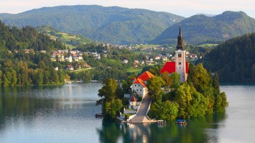 Santa Maria Church on Lake Bled