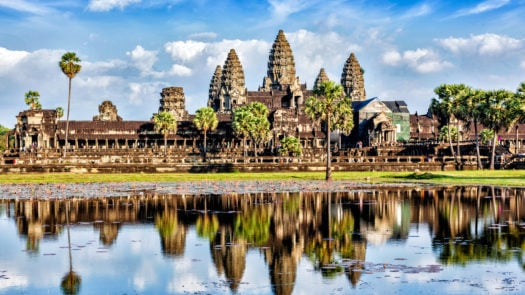 Angkor Wat, reflection in water, Cambodia, Seam Riep