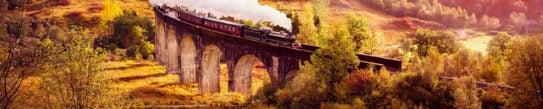 Historical Steam Train, Glenfiann Viaduct, Scotland