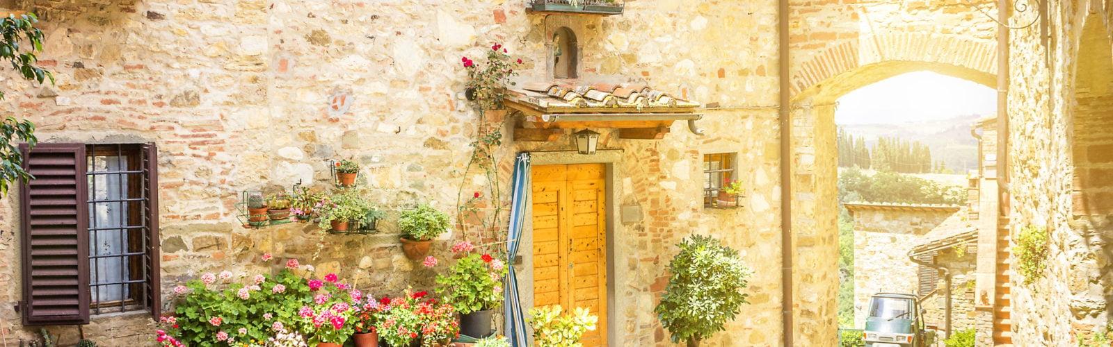 Village in the Chianti region of Tuscany, Italy
