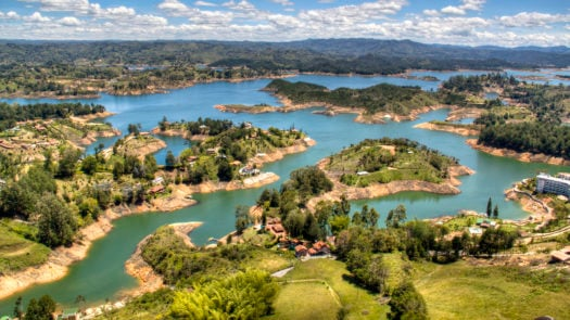 View over Guatape Colombia