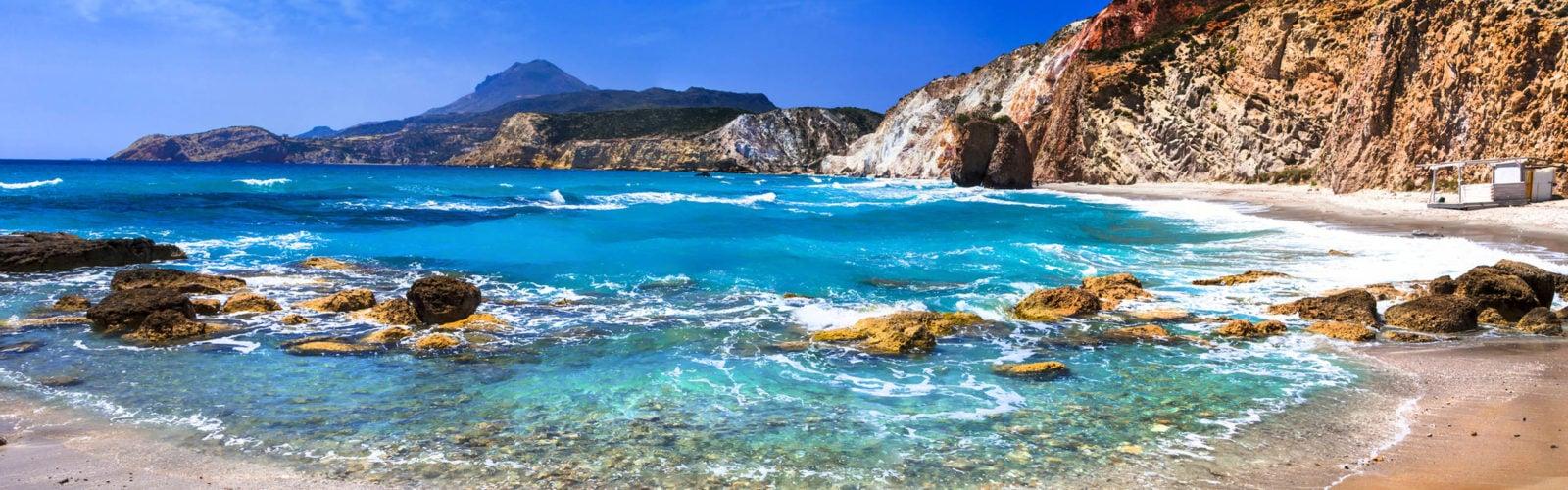 Fyriplaka on Milos island,Cyclades,Greece.