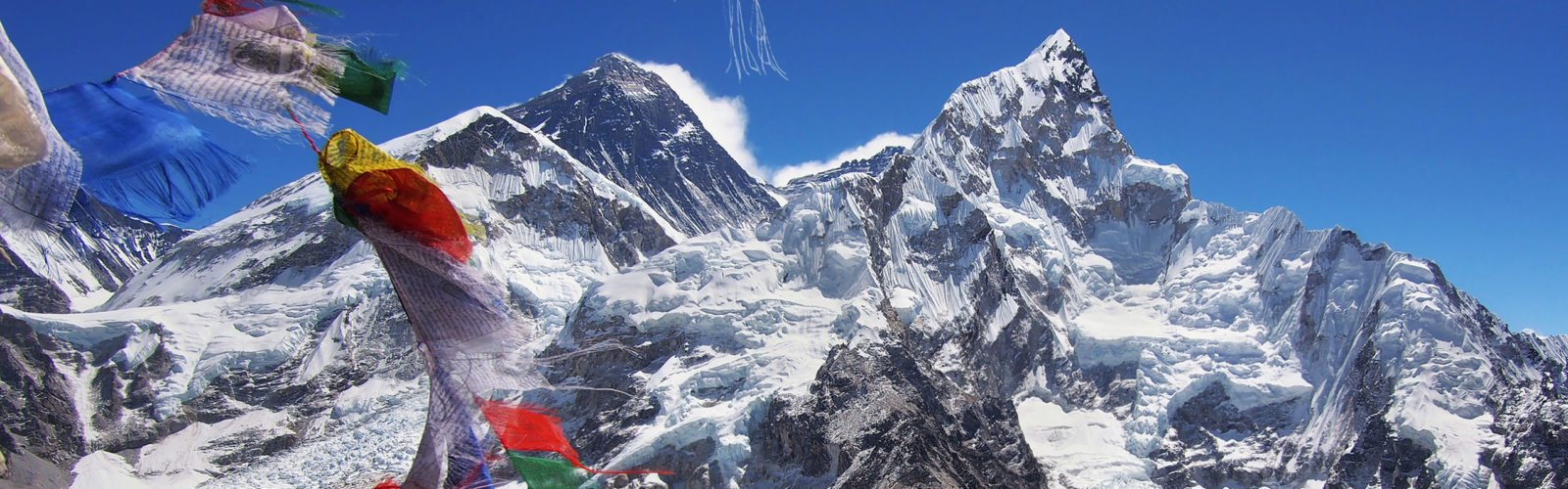 Mount Everest and Nuptse in the Nepal Himalaya