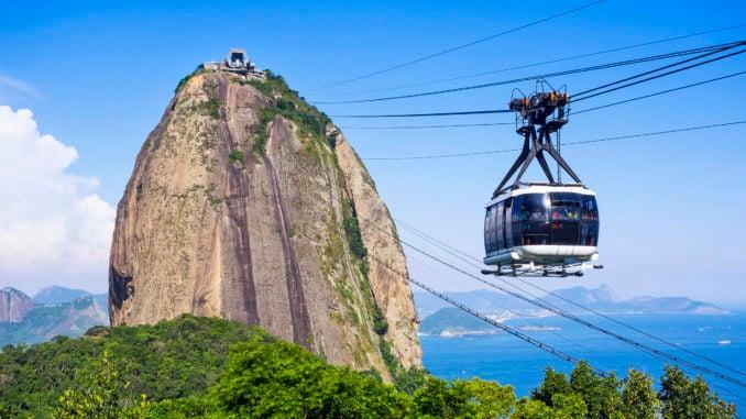Cable Car at Sugar Loaf Mountain, Rio de Janeiro, Brazil