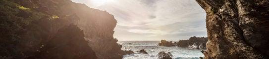 Ana Kai Tangata Cave Sunset Easter Island Rapa Nui Chile