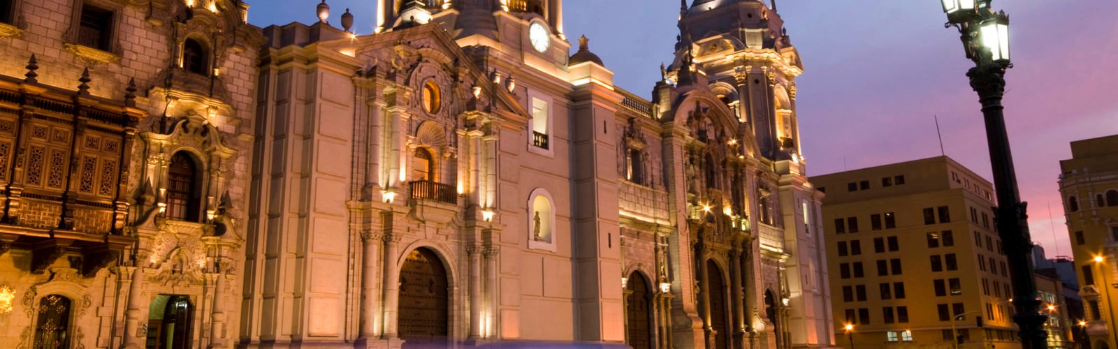 The Cathedral on the Plaza de Armas Mayor Lima, Peru