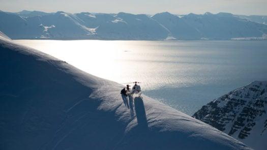 Heli skiing, Deplar Farm, Iceland