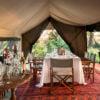 Tent interior, Selinda Explorers Camp, Botswana