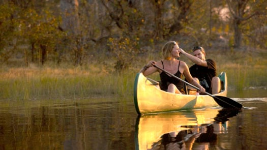 Safari boating, Selinda Explorers Camp, Great Plains Conservation