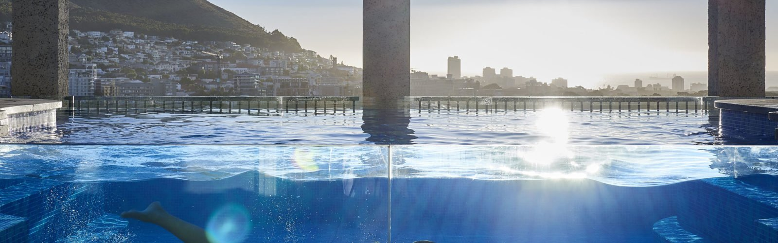 The pool at The Silo, V&A Waterfront, Cape Town, SOuth Africa