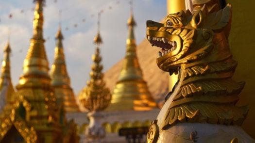 Heraldic Burmese Symbolic Lion, Yangon, Myanmar