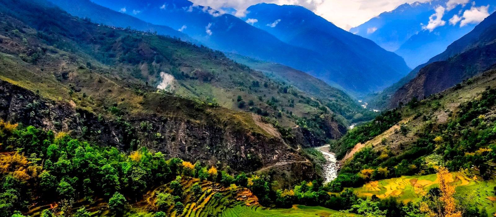 tropical mountain landscape Nepal