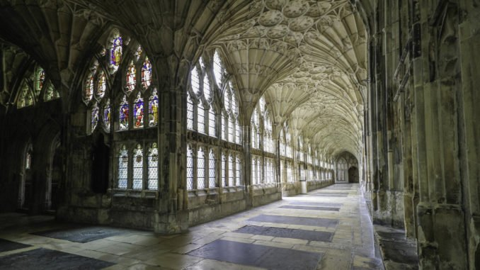 Gloucester Cathedral Cloisters, England, UK