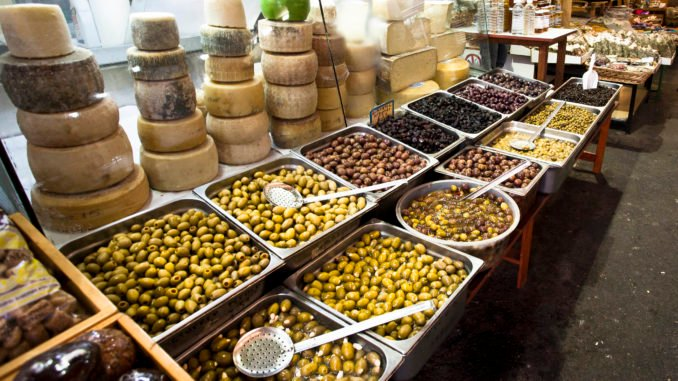 Olives and Cheese, Market, Chania, Greece