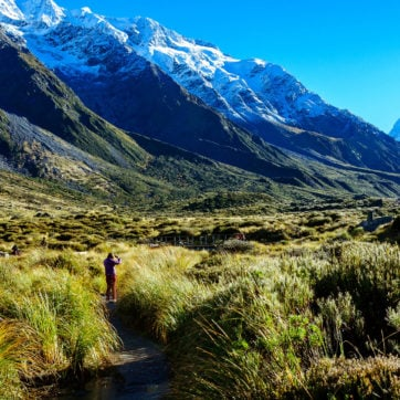 Hooker Valley Track,Mount Cook, New Zealand.