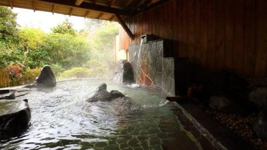 Les bains à Yoshimatsu Ryokan, Hakone, Japon