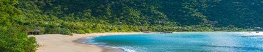 Beautiful beach at coast of Vietnam - Ninh van bay
