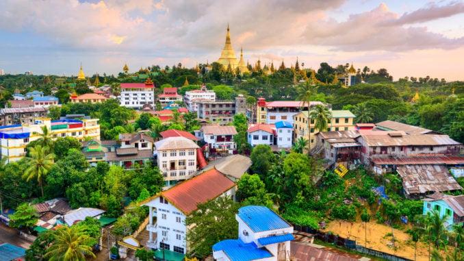 Yangon Myanmar Skyline
