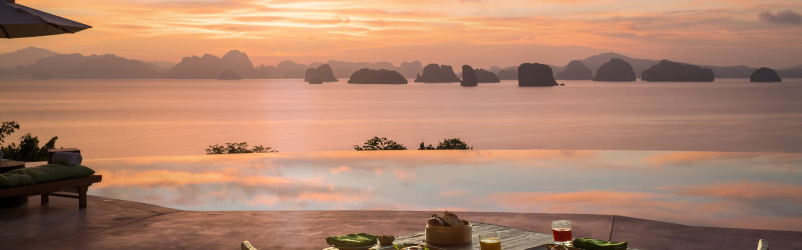 Sunrise breakfast, Six Senses Yao Noi, Thailand