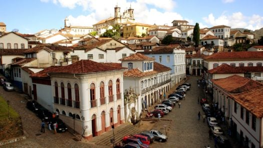 Panoramic View of Ouro Preto