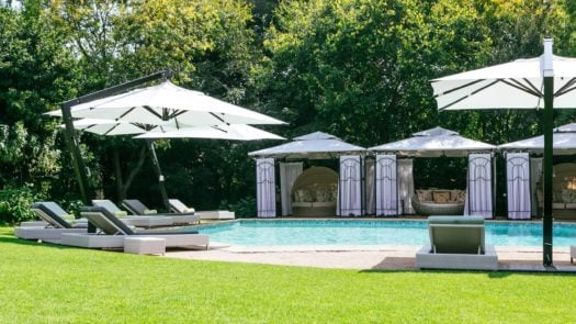 Pool and gardens at Fairlawns Boutique Hotel and Spa, Johannesburg, South Africa