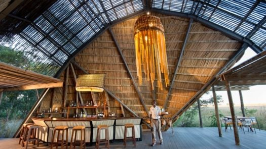 Interior view, King Lewanika Lodge, Liuwa Plain National Park, Zambia, Africa