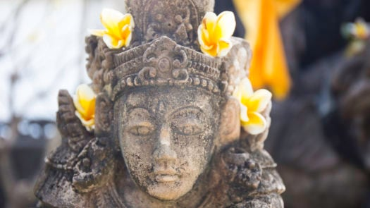 Detail of a god's statue in Bali