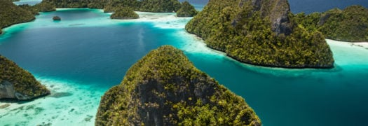 Rock Islands and Lagoon in Raja Ampat, Indonesia