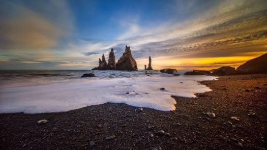 Reynisdrangar sunset, Iceland