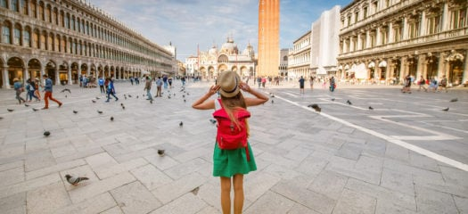 piazza san marco, venice, child taking photo