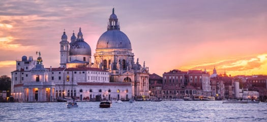 Santa Maria della Salute cathedral and the Venetian lagoon