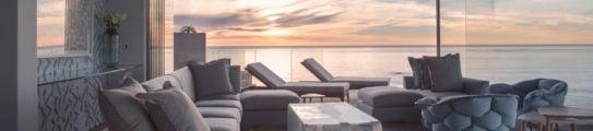 Ellerman House Interior Living Room Sunset