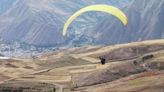 Paragliding in the Sacred Valley, Peru