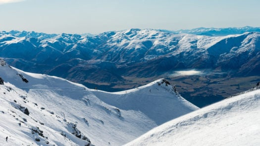 Remarkables Ski Field and Arrowtown in the background