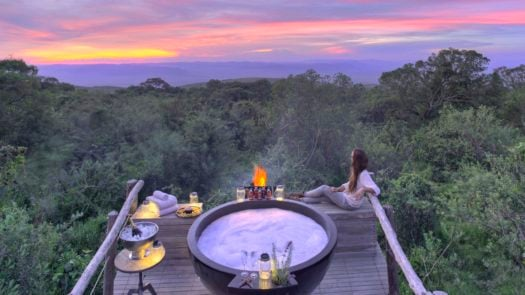 Honeymoon hot tub, The Highlands Ngorongoro, Tanzania