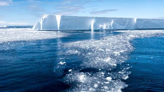 Tabular Iceberg and Brash Ice, Antarctica