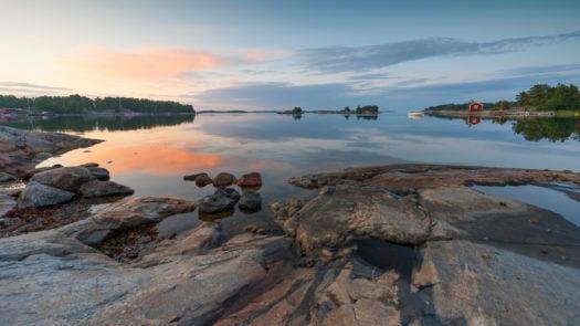 Sunset in the archipelago stockholm