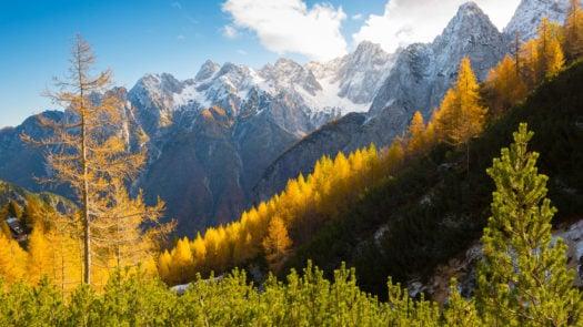 Rocky mountains in Triglav national park, Slovenia