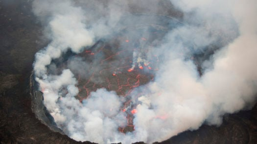 View into the heart of earth, Nyiragongo volcano, DRC