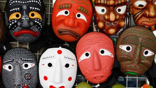 traditional-masks-insadong-art-street-south-korea