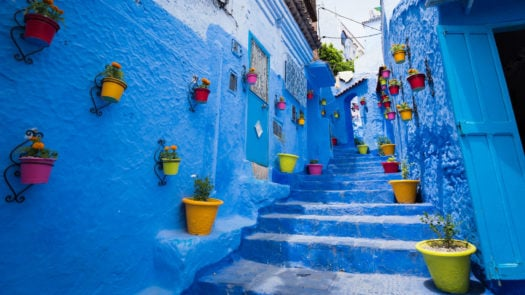 blue-alleyway-chefchaouen-morocco