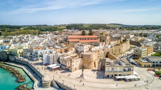 Otranto with historic Aragonese castle in the city center, Apulia, Italy