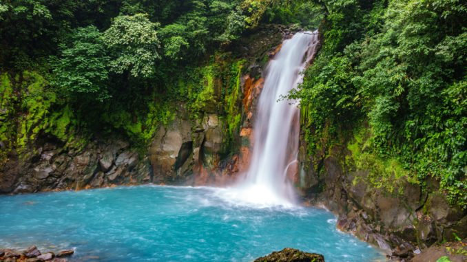 Rio Celeste Waterfall, Tenorio National Park, Costa Rica