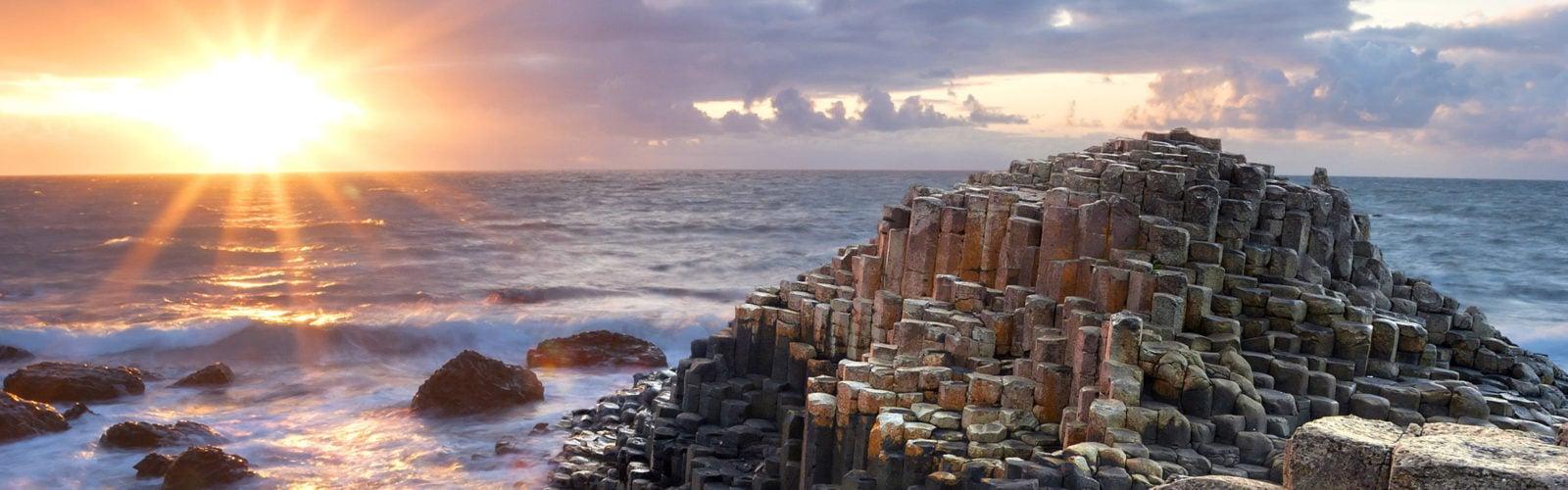 sunset-giants-causeway-ireland