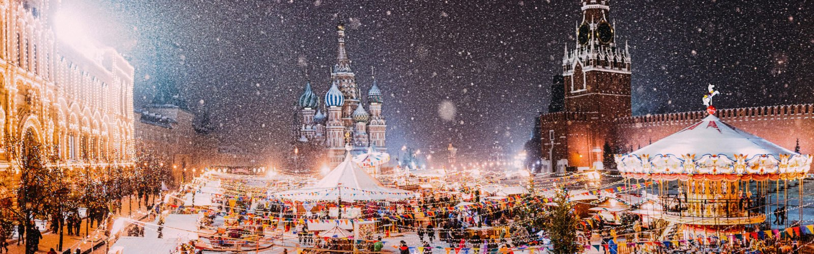 Christmas Market in Red Square, Moscow