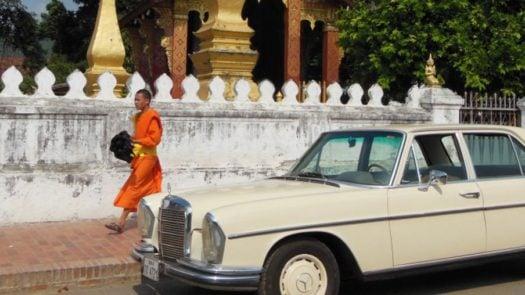 Vintage Mercedes tour, Luang Prabang, Laos
